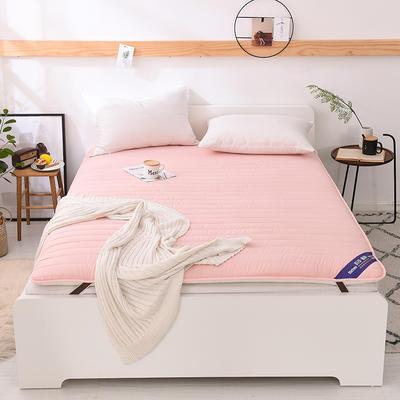 2018新款全棉纯色加厚防滑床垫床护垫可折叠学生床垫背 1.2*2.0m 粉