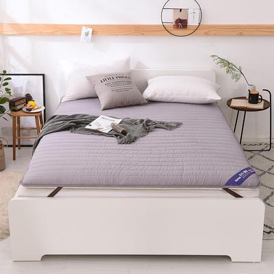 2018新款全棉纯色加厚防滑床垫床护垫可折叠学生床垫背 1.2*2.0m 灰