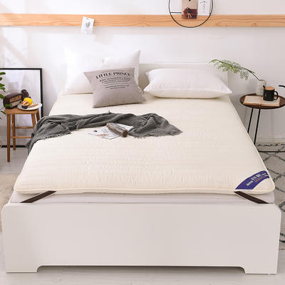 2018新款全棉纯色加厚防滑床垫床护垫可折叠学生床垫背 1.2*2.0m 米