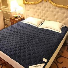 2018新款加厚水晶绒床垫榻榻米垫背学生可机洗水洗 0.9*2.0m 藏蓝