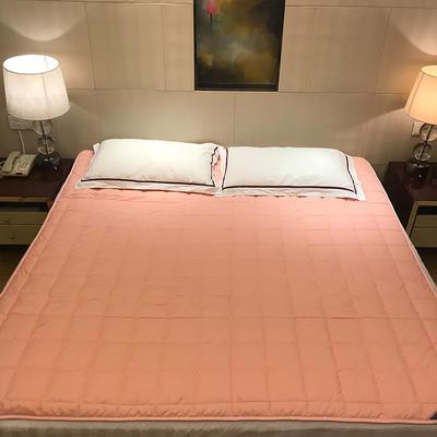 2019新款 全棉夹棉床护垫空调软垫纯色可水洗机洗 0.9*2.0m 粉