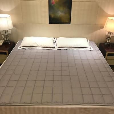2019新款 全棉夹棉床护垫空调软垫纯色可水洗机洗 0.9*2.0m 灰