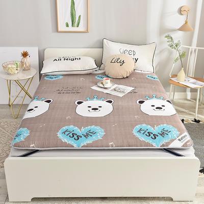 2019新款 亲肤棉加厚防滑床垫-6cm床垫床褥子垫背学生床垫可折叠 120*200cm 亲亲宝贝