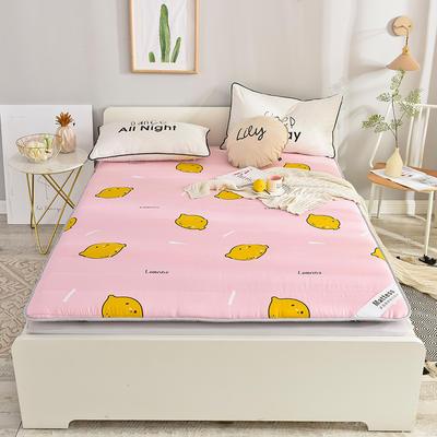 2019新款 亲肤棉加厚防滑床垫-6cm床垫床褥子垫背学生床垫可折叠 120*200cm 鲜柠檬