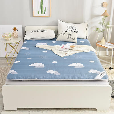2019新款 亲肤棉加厚防滑床垫-6cm床垫床褥子垫背学生床垫可折叠 120*200cm 烟云