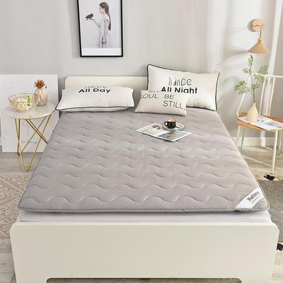 2019新款针织棉加厚防滑床垫-6cm床垫床褥子垫背学生床垫可折叠 90*200cm 针织-灰