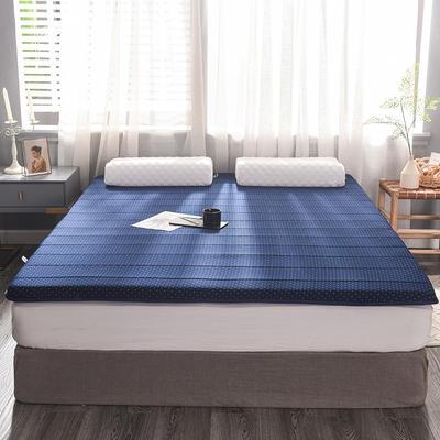 2019新款提花針織乳膠床墊 90*200cm 6cm 藍點