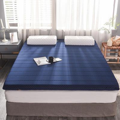 2019新款提花針織乳膠床墊 90*200cm 10cm 藍點