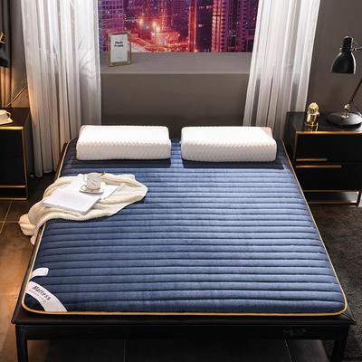 2019新款法萊絨加厚防滑床墊 90*200cm 藍色(加厚款6cm)