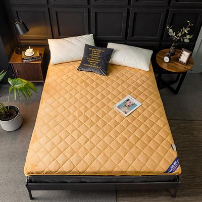 2020新款法莱绒加厚床垫-5cm 90*200cm 驼
