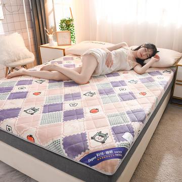 2020新款 牛奶绒加厚防滑床垫-6cm