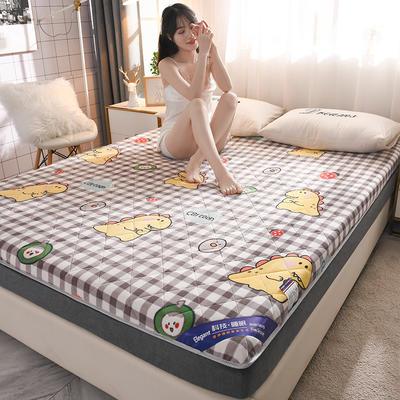 2020新款 牛奶绒加厚防滑床垫-6cm 120*200cm 格子小铺