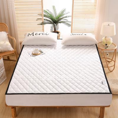 2021新款仿真丝加厚床垫 120*200cm 象牙白-2cm软垫