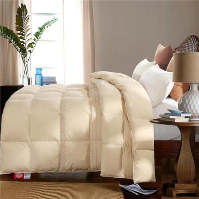 韩式花边舒适款水洗棉全棉-玛安朵羽绒被鹅绒被 200X230cm 水洗棉-玛安朵驼色