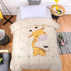儿童系列小尺寸全棉双层防钻绒羽绒被 120x150cm 聪明的小鹿
