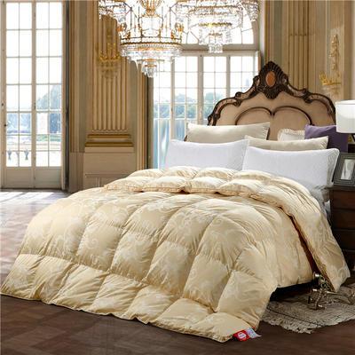 2018新款全棉色织大提花-皇家风范冬被 200X230cm 6斤 浅黄