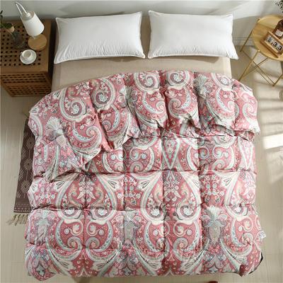 2020精梳棉印花系列冬被被子被芯 180*220cm(5.5斤) 全棉印花红