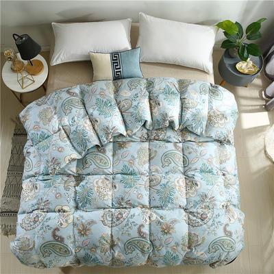 2020精梳棉印花系列冬被被子被芯 180*220cm(5.5斤) 全棉印花蓝
