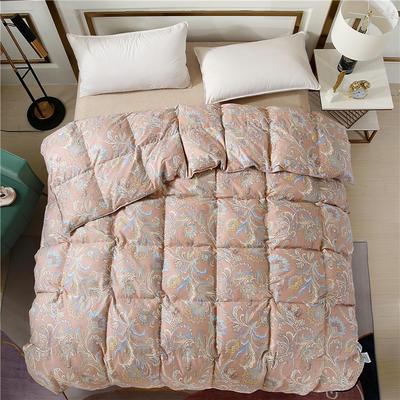 2020精梳棉印花系列冬被被子被芯 180*220cm(5.5斤) 全棉印花豆粉