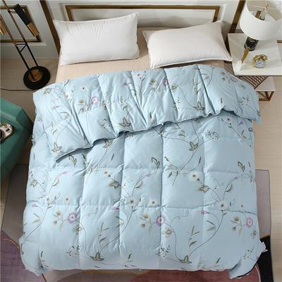 2020精梳棉印花系列冬被被子被芯 180*220cm(5.5斤) 全棉印花浅蓝