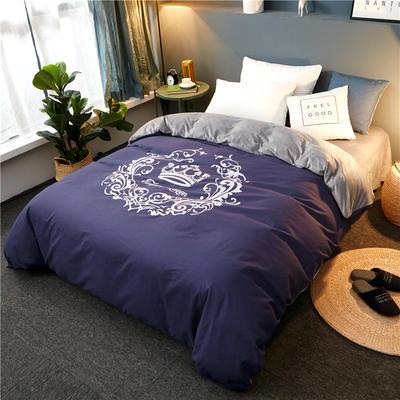 2018新品磨毛水晶绒单被套 150*200cm 皇冠-烟紫