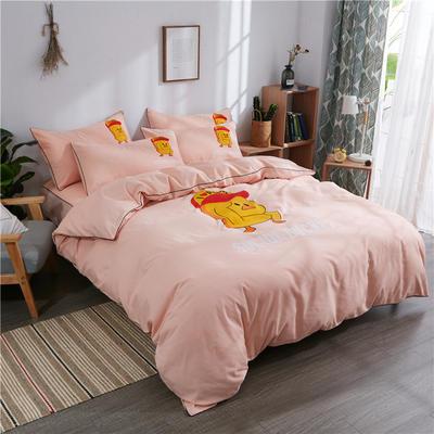 2018新款韩版个性套件   床笠款 1.2m(4英尺)床 小黄鸭-玉色