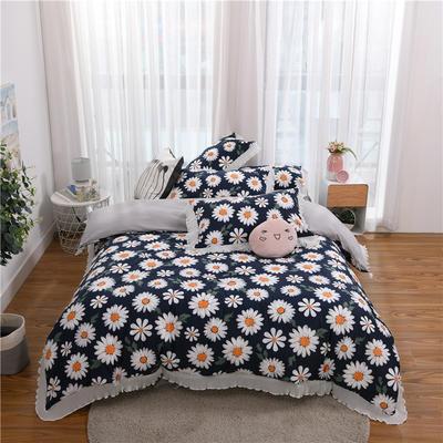 2020伊家纺韩版雪纺花边公主风四件套 1.5m床单款四件套 朵朵雏菊