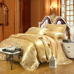 莫代尔提花套件 标准(适用1.5 1.8床) 爱莲娜-金黄