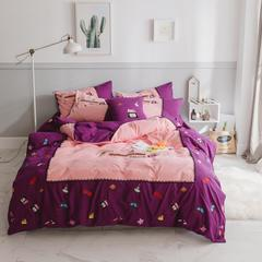 小调皮 小可爱 晴天娃娃磨毛拉绒系列四件套 1.5m(5英尺)床 晴天娃娃