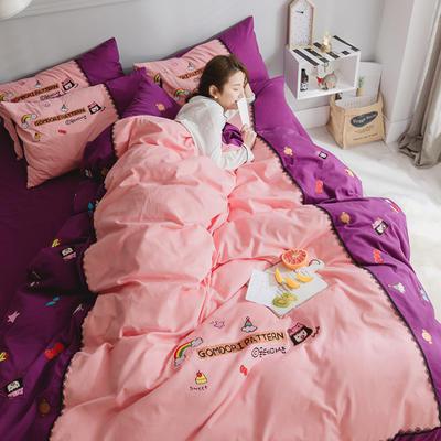 2021新款磨毛拉绒系列四件套 1.8m床单款四件套 晴天娃娃