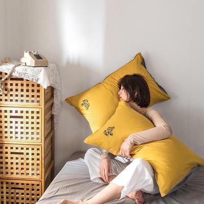 2021新款13372全棉水洗棉刺绣套件系列—单品枕套 48cmX74cm/个 杰瑞