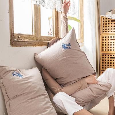 2021新款13372全棉水洗棉刺绣套件系列—单品枕套 48cmX74cm/个 揽渔