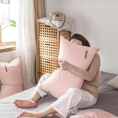 2021新款13372全棉水洗棉刺绣套件系列—单品枕套 48cmX74cm/个 蜜桃之吻