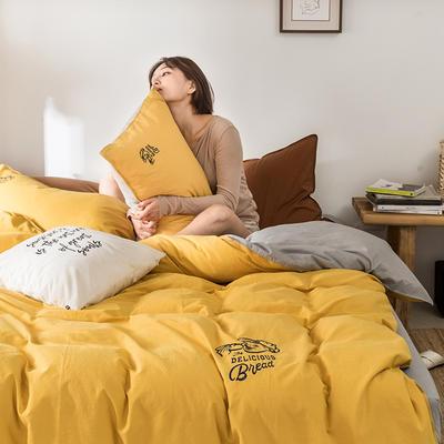 2021新款13372全棉水洗棉刺绣套件系列—四件套 1.5m床单款四件套 杰瑞