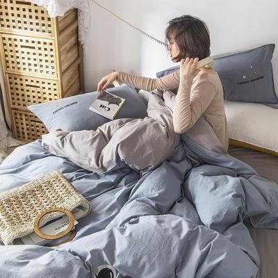 2021新款13372全棉水洗棉刺绣套件系列—四件套 1.5m床单款四件套 太空梦