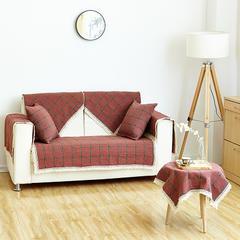 沙发坐垫新款棉麻沙发垫 45*45(椅垫) 布拉格-红