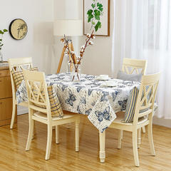 沙发垫桌布桌椅套椅垫 棉麻桌布 70*70 蝶舞纷飞