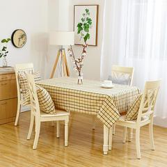 沙发垫桌布桌椅套椅垫 棉麻桌布 70*70 绿色小格