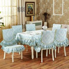 沙发垫桌布桌椅套椅垫 欧式桌布01 45*45椅垫 北欧情怀-蓝色