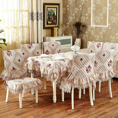 沙发垫桌布桌椅套椅垫 欧式桌布02 45*45椅垫 巴黎恋曲-红色