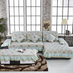 沙发坐垫米兰之都万紫千红沙发垫(万紫千红) 42*45大花边椅垫 万紫千红蓝