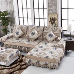 沙发坐垫米兰之都万紫千红沙发垫(米兰之都) 42*45(椅垫)大花边 米兰之都蓝