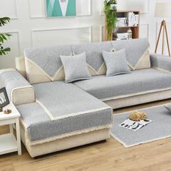 共鸣沙发垫 新款棉麻沙发垫 风格1 90*210cm 素雅-绿
