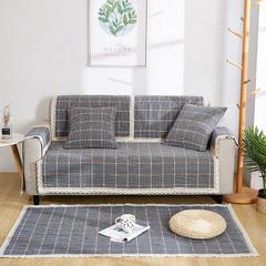 共鸣沙发垫 新款棉麻沙发垫 风格2 110*240cm 素雅-绿