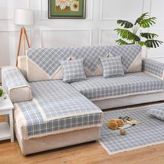 共鸣沙发垫 雪尼尔沙发垫 可定制 90*90cm 雪尼尔绿