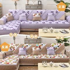 共鸣沙发垫四季双面沙发垫 70*160cm 枫叶牡丹