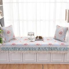 共鸣沙发垫  若梦系列亚麻印花飘窗垫 可定制 90*160cm 若梦蓝
