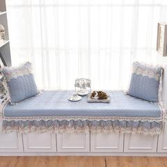 共鸣沙发垫  水洗棉素色飘窗垫 可定制 90*180cm 水洗棉蓝灰