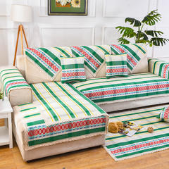 共鸣沙发垫 民族风加厚棉麻沙发垫 杯垫 律动绿