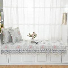 共鸣沙发垫 慕羽系列飘窗垫 可定制 45*45cm抱枕套 慕羽兰